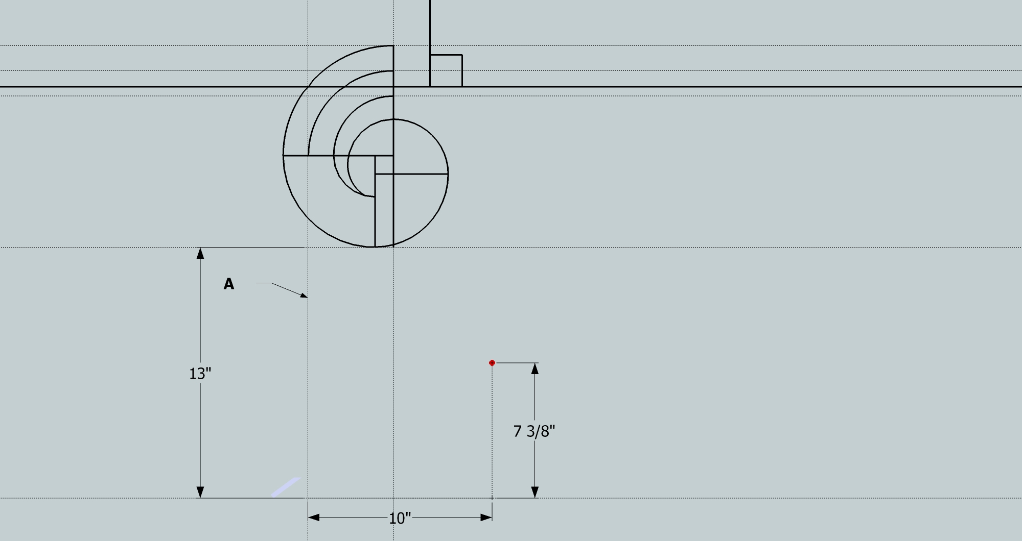 how to draw a volute in cad