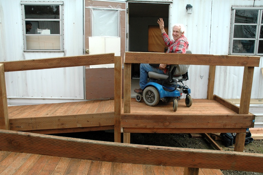 show me how to build a handicap ramp