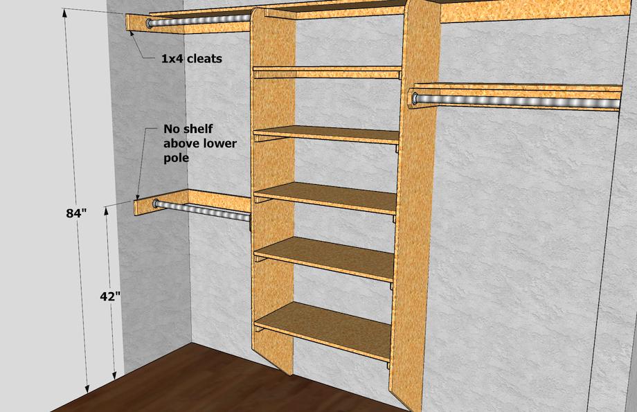 Closet shelving layout design toolbox thisiscarpentry - Closet shelf design ideas ...