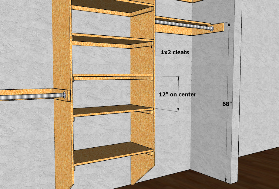 closet shelving layout design thisiscarpentry. Black Bedroom Furniture Sets. Home Design Ideas