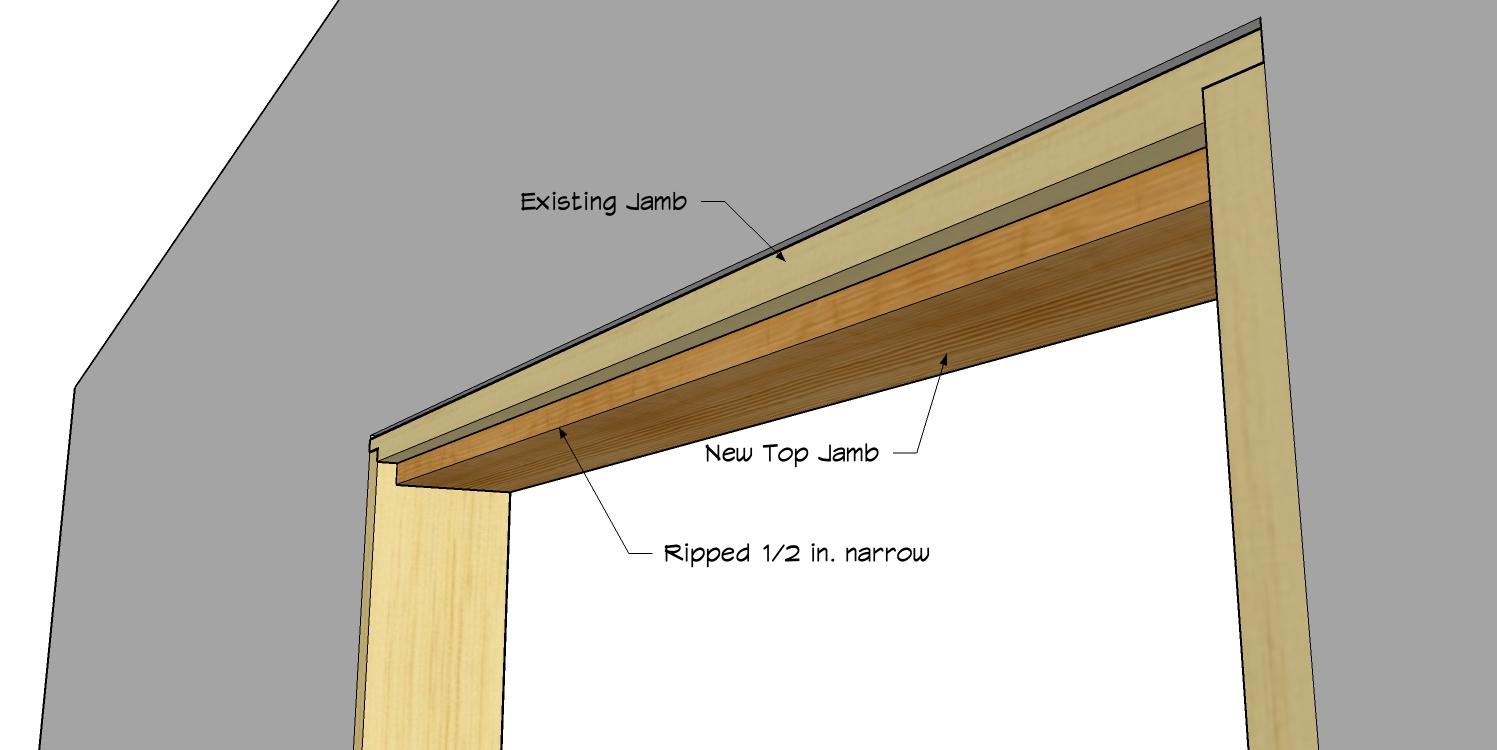 Hidden pivot bookcase installation thisiscarpentry for Window jamb definition