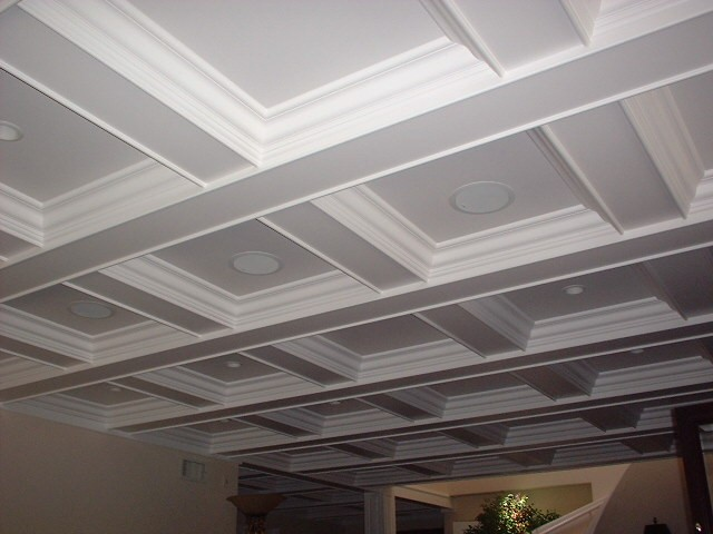 Coffered ceiling layout thisiscarpentry for Foam coffered ceiling