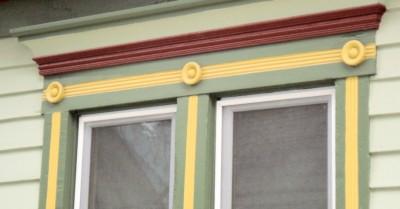 rosetttes on window hood-1