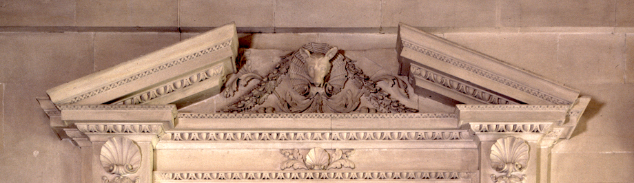 Stone Hall-CU Pediment-1