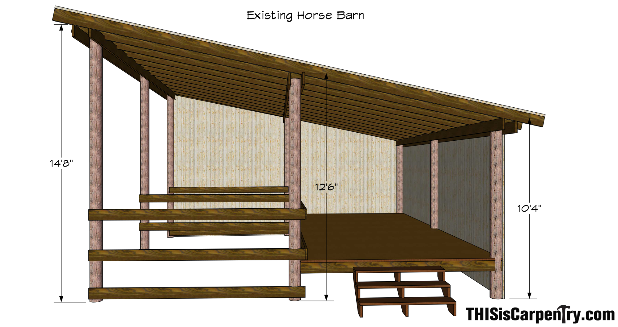 Building a tractor barn from a horse stable thisiscarpentry for Building a tractor barn